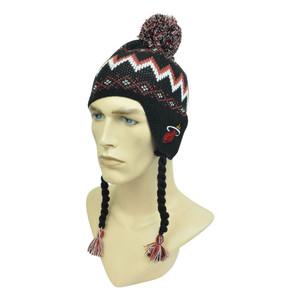 NBA Adidas Miami Heat Ear Flap Peruvian Nordic Pom Pom Kids 4-7 Knit Beanie Hat