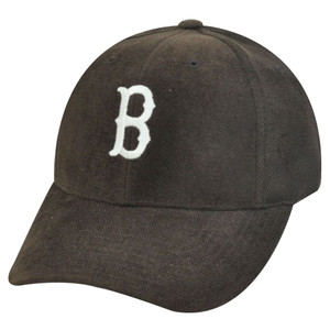 MLB BOSTON RED SOX BROWN POLYESTER HAT CAP ADJ NEW