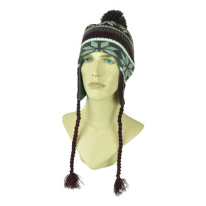 NCAA Texas A&M Aggies Top of the World Pom Pom Ear Flaps Tassel  Knit Beanie