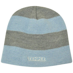 NCAA American Needle Women Ladies Temple Owls Cuffless Knit Blue Striped Beanie