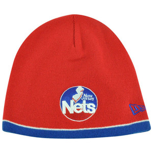 NBA New Era HWC New Jersey Nets Cuffless Performance Toque Knit Beanie Skully