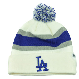 MLB '47 Brand Los Angeles LA Dodgers Breakaway Cuffed Beanie Pom Toque Knit Hat