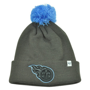 NFL '47 Brand Tennessee Titans Justus Charcoal Pom Cuffed Knit Beanie Skully Hat