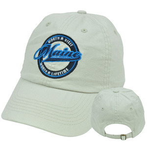 Maine Worth Lifetime State Top of World Relaxed Slouched Cotton Wash Fit Hat Cap