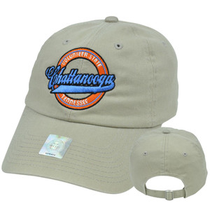 Chattanooga Tennessee Volunteer State Top of World Relaxed Slouched Fit Hat Cap