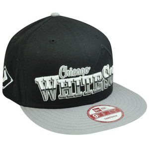 MLB HAT CAP NEW ERA NINE 9 FIFTY CHICAGO WHITE SOX FLAT BILL SNAPBACK BLACK GRAY
