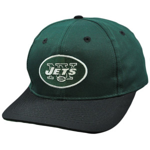 NFL New York Jets Green Black Vintage Retro Deadstock Snapback Twins Hat Cap dd3a7310a98f