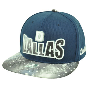 Dallas Texas TX Galactic Sublimated Galaxy Flat Bill Snapback Navy Blue Hat Cap