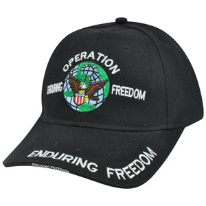 Military Operation Enduring Freedom Curved Bill Adjustable Constructed Hat Cap