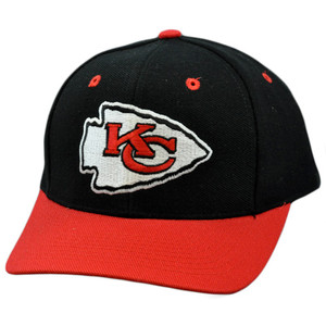 NFL Kansas City Chiefs Black Red White Vintage Retro Deadstock Snapback Hat Cap