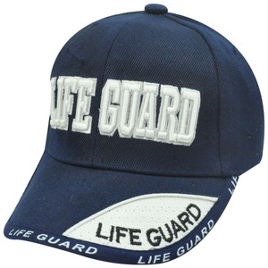 NAVY BLUE LIFE GUARD YOUTH KIDS LIFEGUARD HAT CAP SMALL
