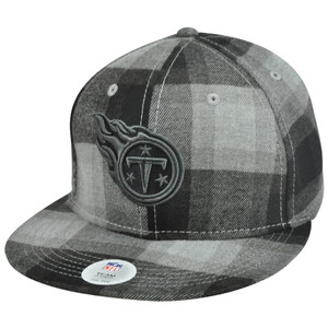 NFL New York Titans Plaiderick Adjustable Velcro Plaided Constructed Hat Cap
