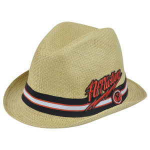 Affliction  Paper Straw Diamond Top Brand Small Medium Hat Pimp Trilby Gangster