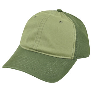 American Needle Blank Two Tone Olive Women Ladies Garment Wash Buckle Hat Cap