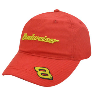 HAT CAP BUDWEISER DALE EARNHARDT JR 8 NASCAR BEER RACE RACING CHASE INDIE RED