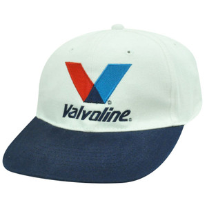 HAT CAP GORRA VALVOLINE MOTOR OIL NASCAR FLAT BILL CAR RACE RACING INDIE WHITE
