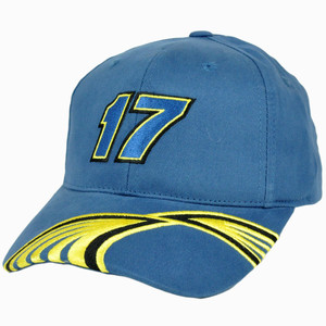 Nascar Best Buy #17 Matt Kenseth Constructed Adjustable Velcro Racing Hat Cap