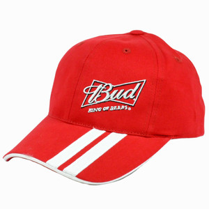 Nascar Kasey Kahne #9 Budweiser King Of Beers Dual Stripe Adjustable Velcro Hat