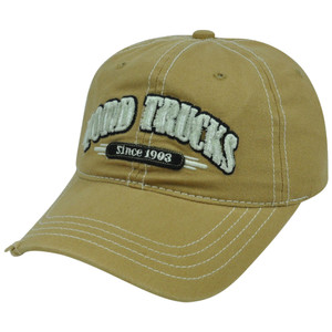 Ford Trucks Car Velcro Garment Wash Relaxed Slouch Distress Curved Bill Hat Cap