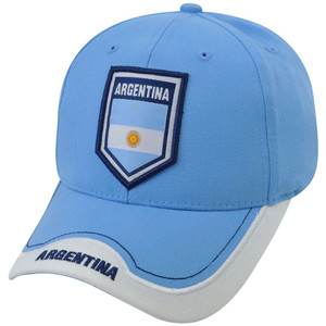 Argentina Soccer Futbol C1W12 Rhinox Group National World Cup Hat Cap Sun Buckle