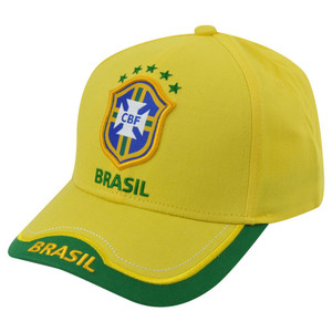 Brazil National World Cup Soccer Futbol Rhinox Group C1S09-L Sun Buckle Hat Cap