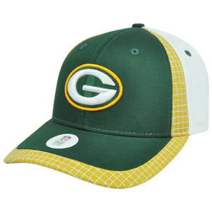 NFL Green Bay Packers Gridiron Adjustable Velcro Curved Bill Constructed Hat Cap