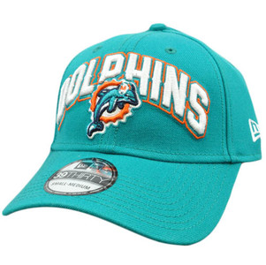New Era 3930 39Thirty 2012 Black Flex Fit Cap Hat Small NFL Miami Dolphins