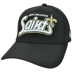 NFL New Era 39Thirty 3930 Tail Swoop Classic Flex Fit Hat New Orleans Saints LG