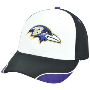 NFL Baltimore Ravens Logo Adjustable Curved Bill Velcro Construct Hat Cap XZ508