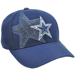 NFL Team Apparel Flex Fit Curved Bill Football Hat Dallas Small Medium Cowboys