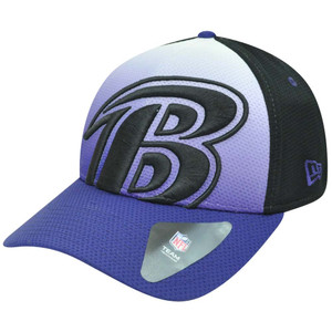 NFL New Era 39Thirty 3930 Gradation Baltimore Ravens Flex Fit L/XL Hat Cap