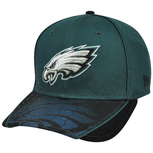 New Era 39Thirty NFL Philadelphia Eagles Hybrid Hex Stretch Hat Cap Flex Fit M/L