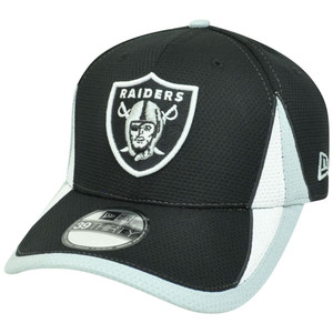 NFL New Era 3930 Oakland Raiders 2013 Training Camp Flex Fit S/M Hat Cap Black