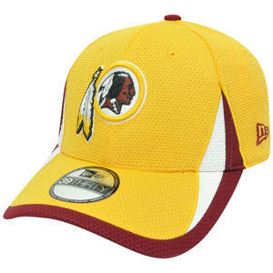 NFL New Era 3930 Washington Redskins Training Camp Flex Fit L/XL Hat Cap Yellow