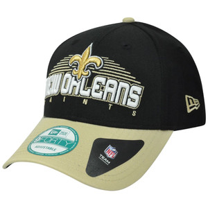 NFL New Era 9Forty 940 New Orleans Saints Team Text Adjustable Velcro Hat Cap