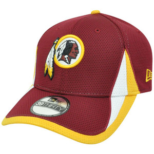 NFL New Era 3930 Washington Redskins Training Camp Flex Fit S/M Hat Cap Maroon