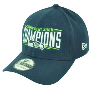 NFL New Era 39Thirty Seattle Seahawks Super Bowl Champions Medium Large Hat Cap