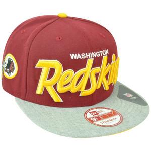 NFL New Era 9Fifty Washington Redskins Team Script Heather Strap Back Hat Cap