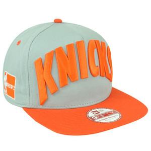 NBA New Era 9Fifty New York Knicks A-Tone Word 5 Panel A-Frame Snapback Hat Cap
