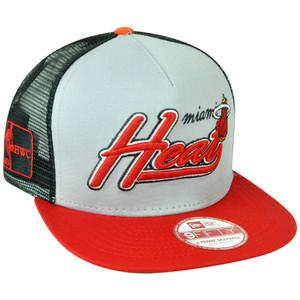 NBA 9Fifty 950 Miami Heat HWC New Era Mark Mesh Snapback A Frame 5 Panel Hat Cap