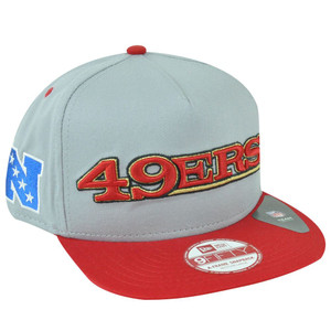 NFL New Era 9Fifty San Francisco 49ers A-Tone Word A-Frame Gray Snapback Hat Cap