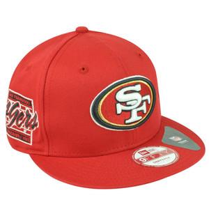 NFL New Era 9Fifty San Francisco 49ers Primary Fan Snapback Flat Bill Hat Cap