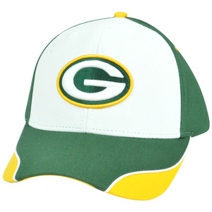 NFL Green Bay Packers Logo Adjustable Curved Velcro Constructed Hat Cap XZ508