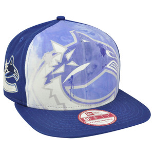 NHL New Era 9Fifty A Frame Over Watercolor Vancouver Canucks Snapback Hat Cap