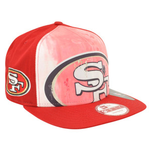 NFL New Era 9Fifty A Frame Over Watercolor San Francisco 49ers Snapback Hat Cap
