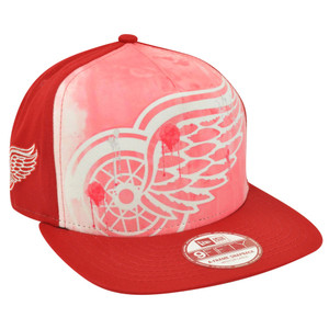 NHL New Era 9Fifty A Frame Over Watercolor Detroit Red Wings Snapback Hat Cap