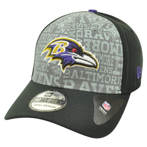 NFL New Era 39Thirty 3930 2014 Reflective Baltimore Ravens Flex Fit Hat Cap M/L