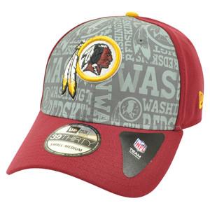 NFL New Era 39Thirty 2014 Reflective Washington Redskins Flex Fit Hat Cap S/M