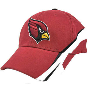 NFL Arizona Cards Cardinals Dark Red White Large XLarge Flex Fit License Hat Cap