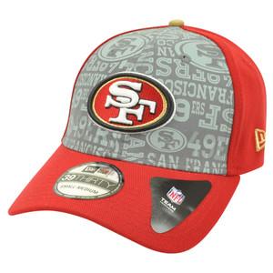 NFL New Era 39Thirty 2014 Reflective San Francisco 49ers Flex Fit Hat Cap S/M